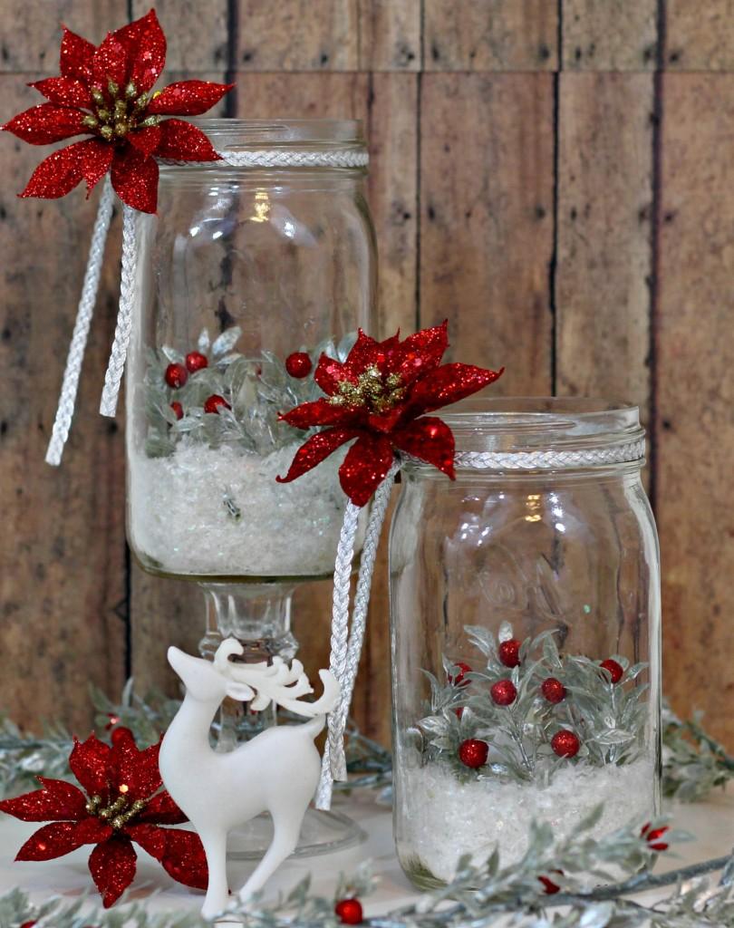 Holiday Mason Jar Luminary 11