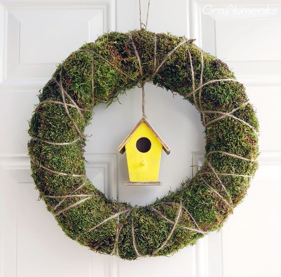 Spring Wreath Moss and Twine