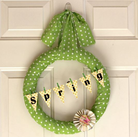 Spring Wreath Polka Dot and Banner