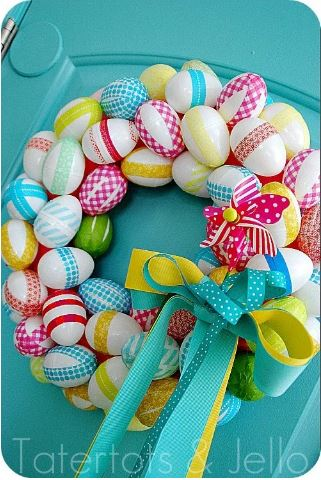 Spring Wreath Washi Tape Eggs