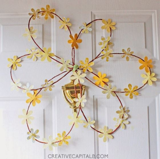 Spring Wreath Wire Flower