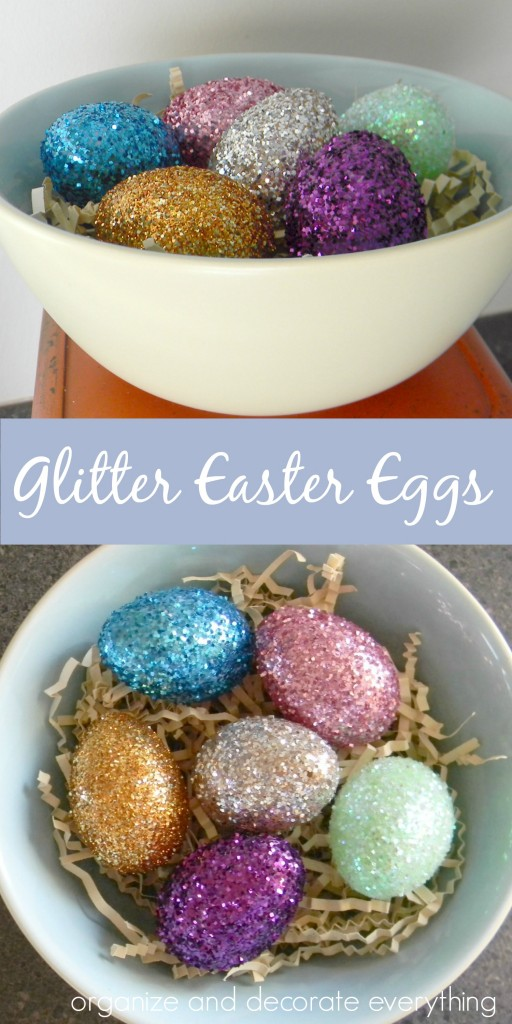 Glitter Easter Eggs for a glam Easter