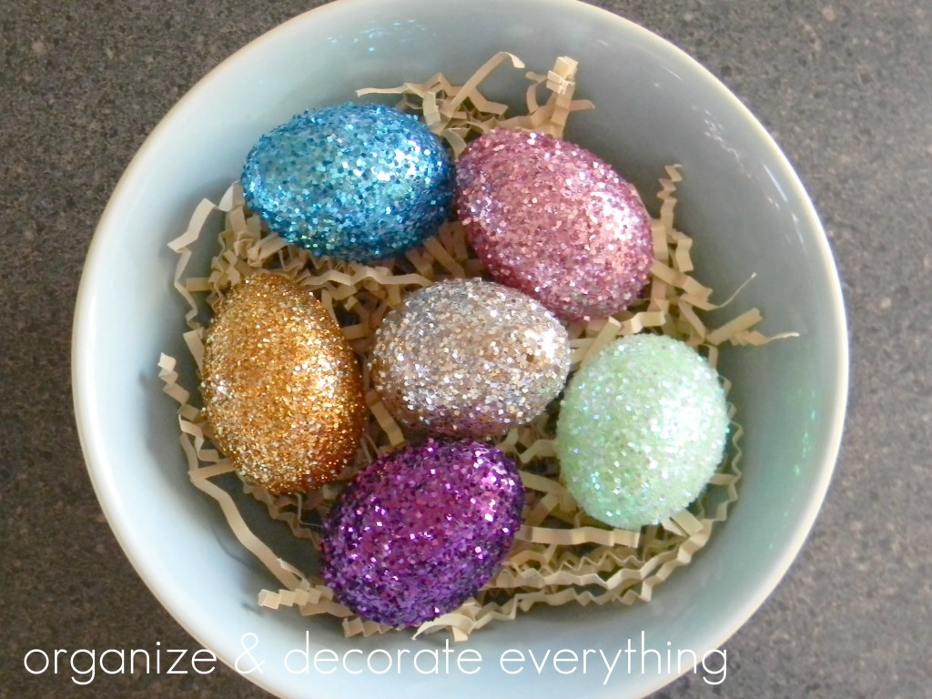 Glitter Easter Eggs Organize And Decorate Everything