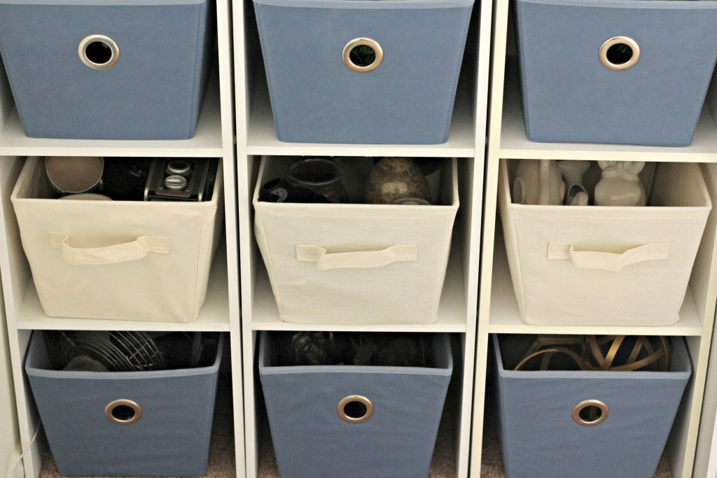 organizing with baskets decorating items