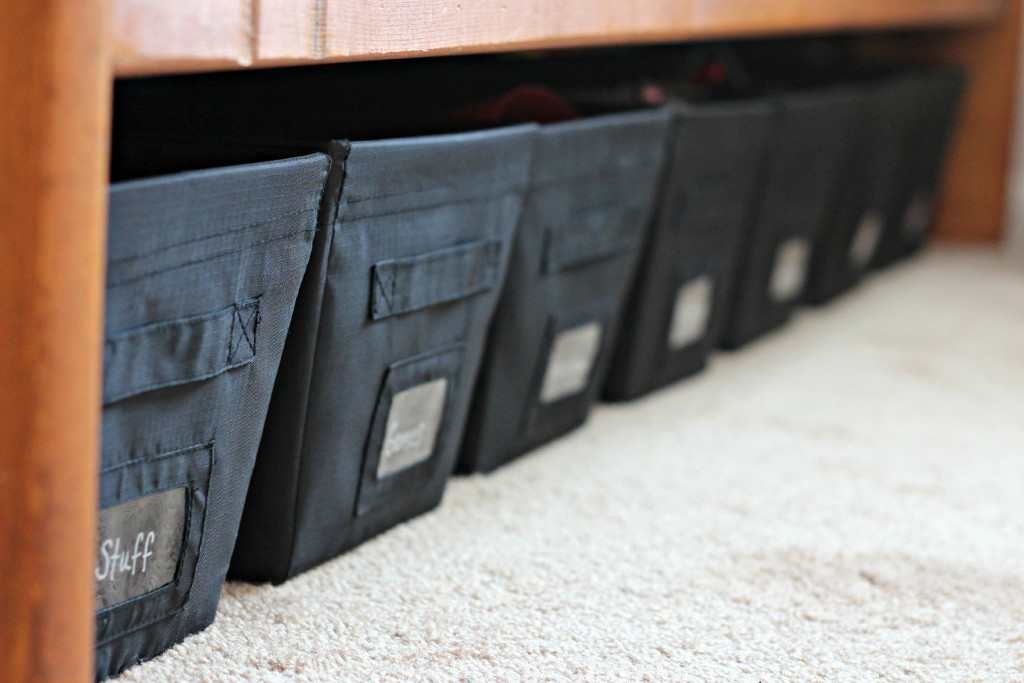 organize your home organizing with baskets under bed