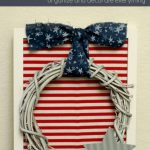 Framed Patriotic Wreath