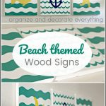 Beach Themed Wood Signs