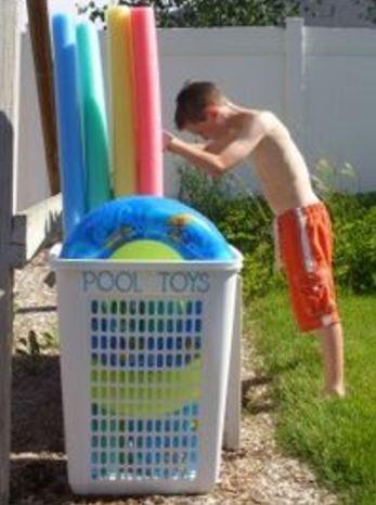 organizing big pool toys