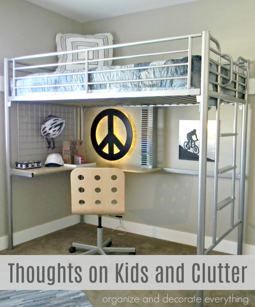 Kids and Clutter bedroom