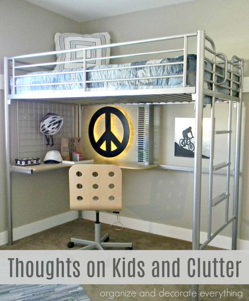 Thoughts on Kids and Clutter bedroom