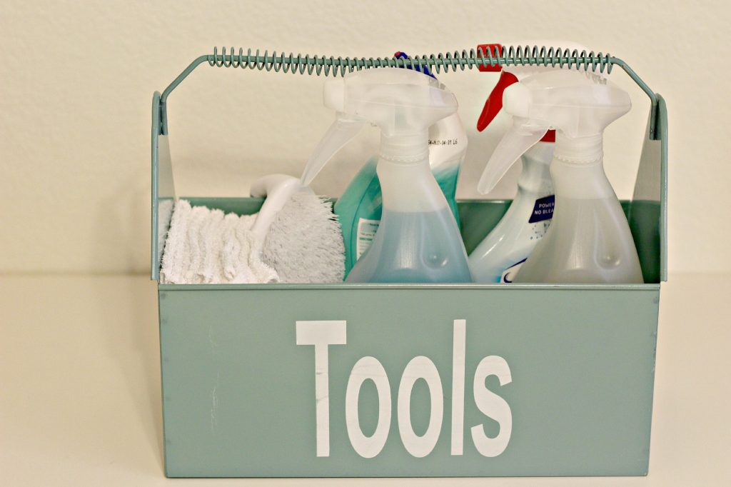 cleaning supplies organizing