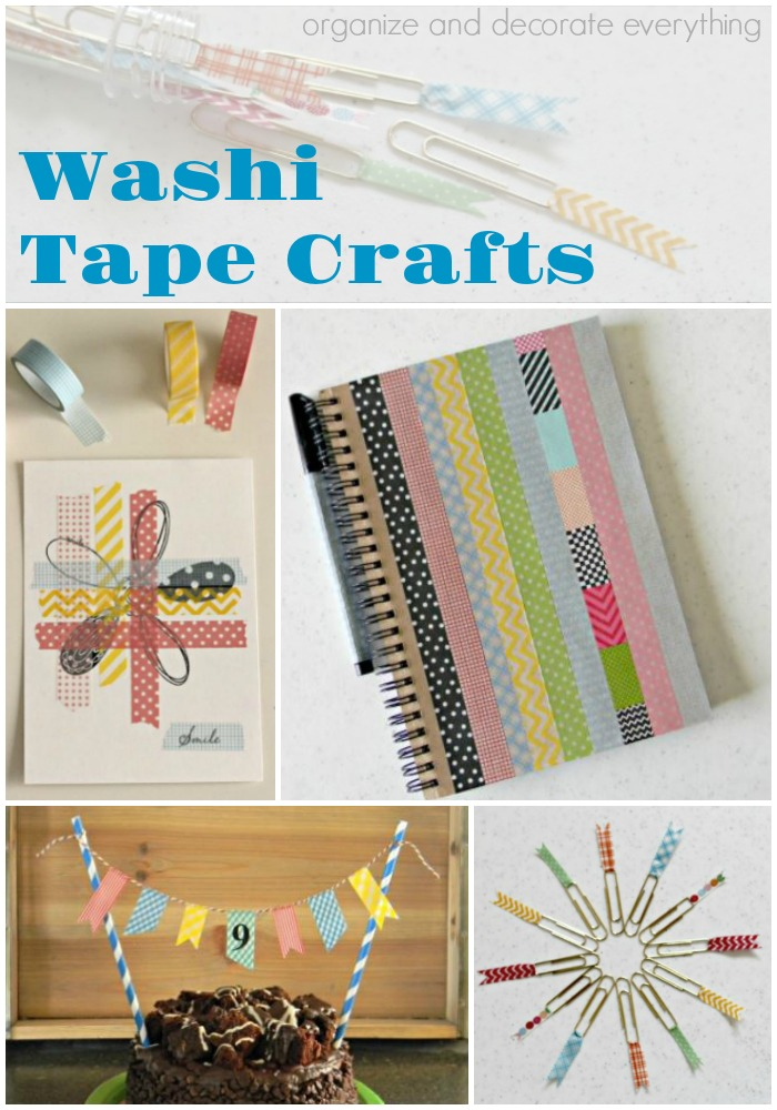Quick and easy washi tape crafts organize and decorate for Crafts with washi tape