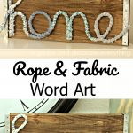 Rope and Fabric Word Art