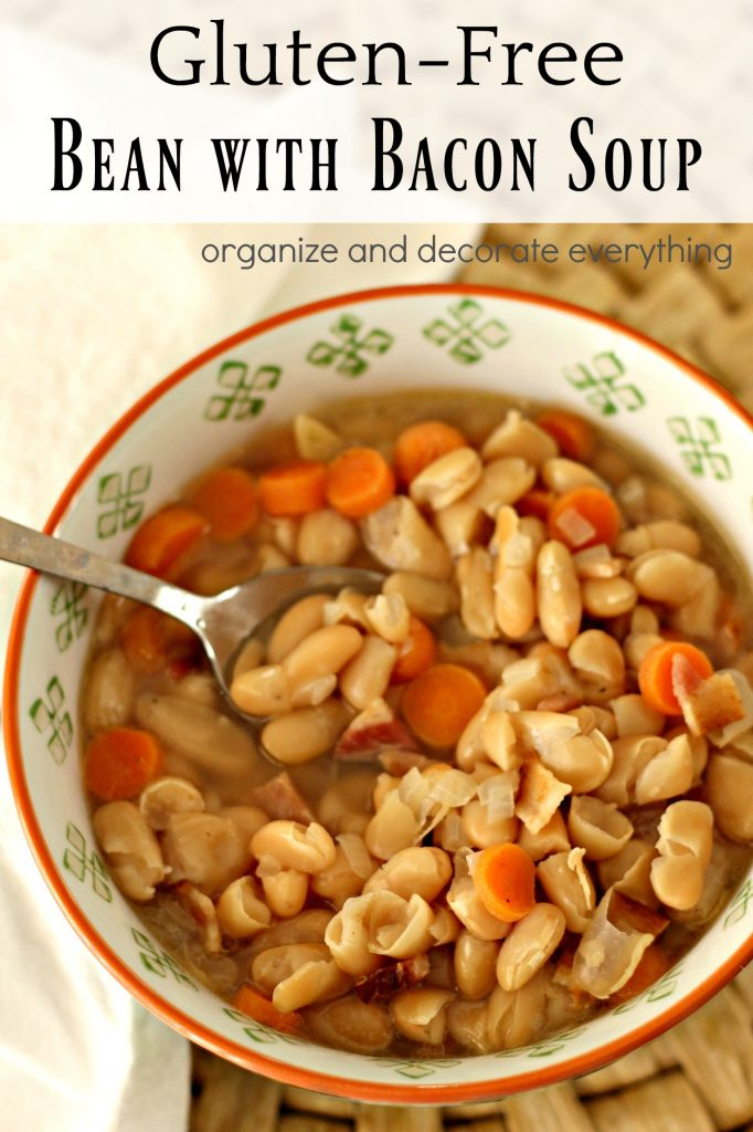 Gluten Free Bean and Bacon Soup with Bushs Beans