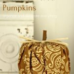 Toilet Paper Fabric Covered Pumpkins