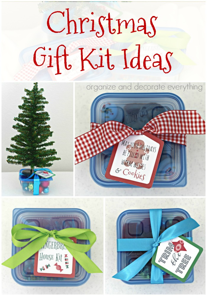 Christmas Gift Kit Ideas with Ziploc Containers