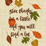 Give Thanks for a Little Printable