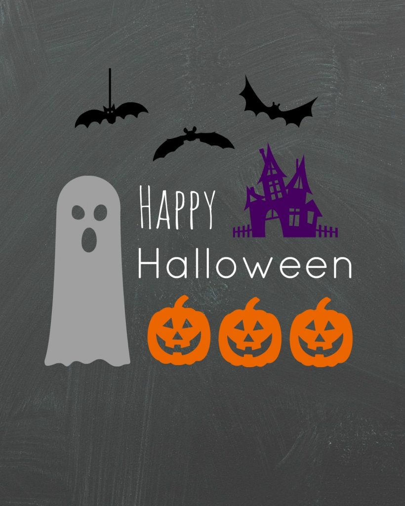 Happy Halloween Spooks printable