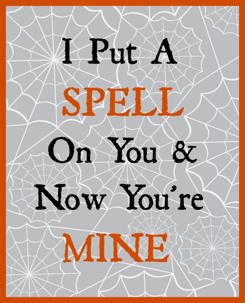 I Put a Spell on You printable