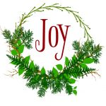 Joy Wreath Printable