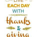 Thanks and Giving Printable