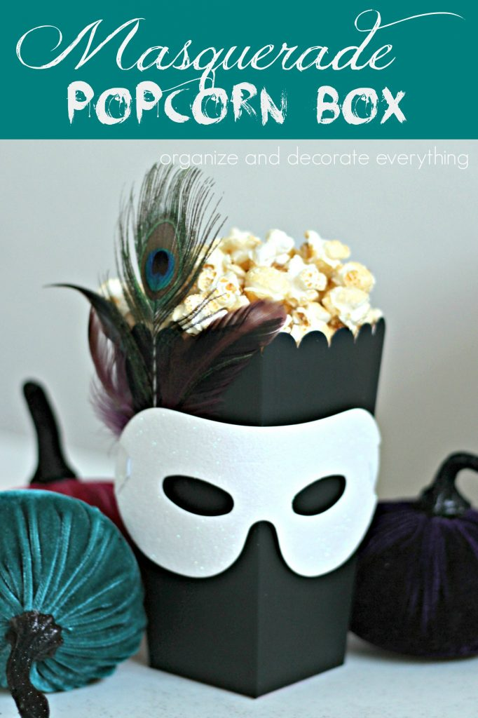 masquerade party popcorn box