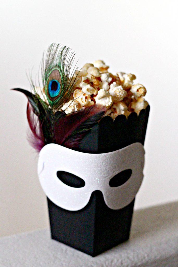 masquerade popcorn box for halloween