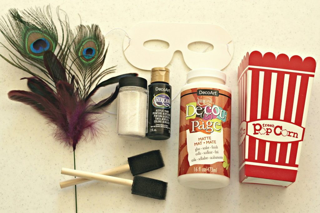 masquerade popcorn box supplies
