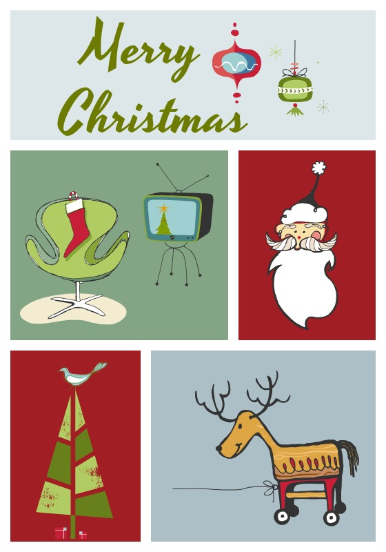 picture relating to Merry Christmas Printable called Retro Merry Xmas Printable - Arrange and Embellish