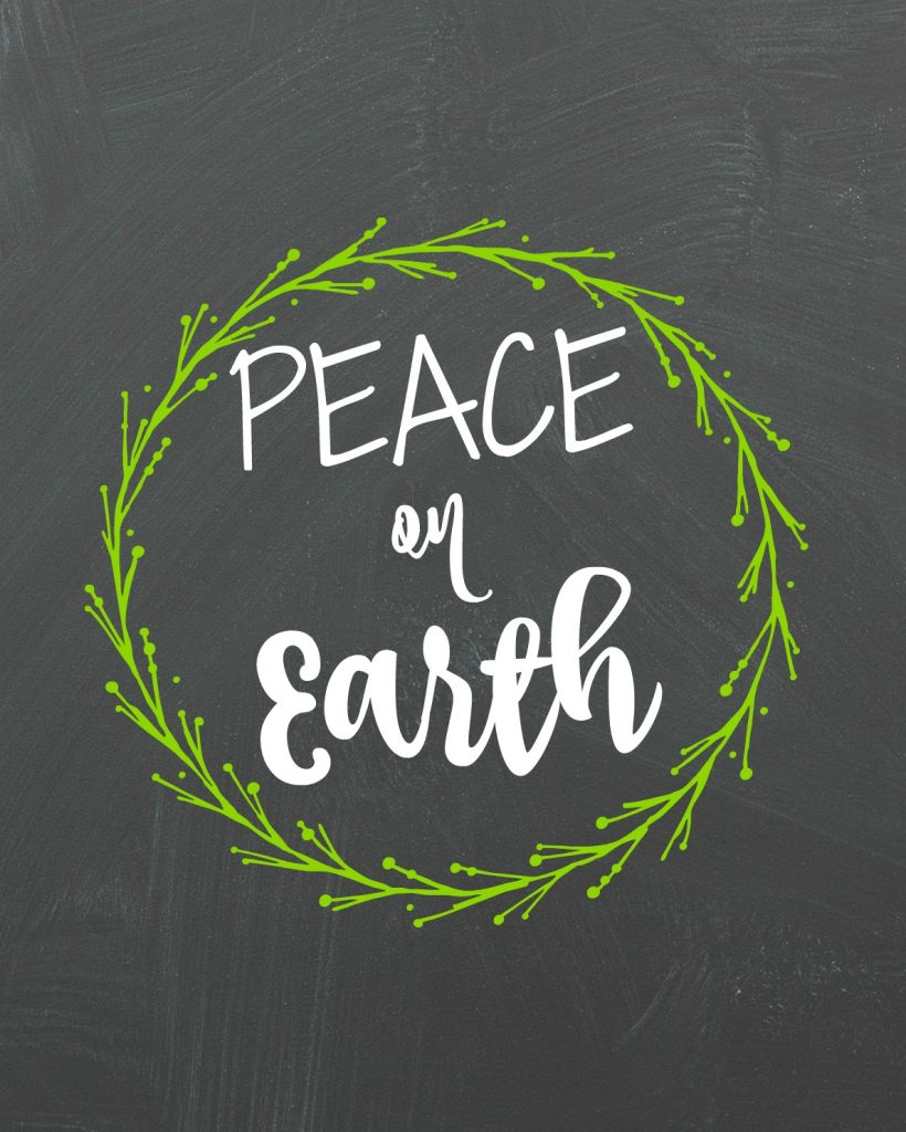 printable Peace on Earth