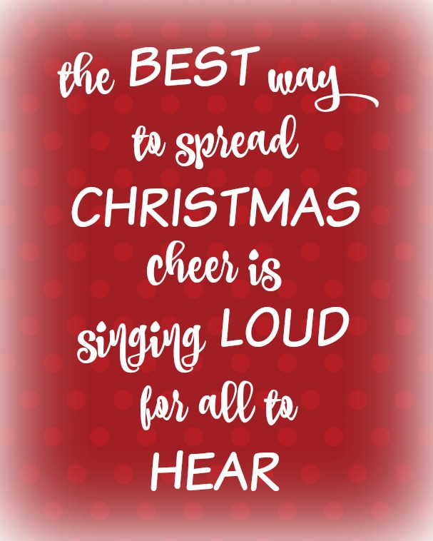 The Best Way To Spread Christmas Cheer.The Best Way To Spread Christmas Cheer Printable Organize