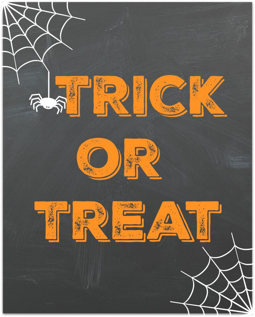 printable trick or treat
