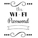 Wi-Fi Password Printable