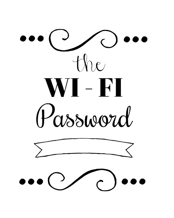 printable wi-fi password