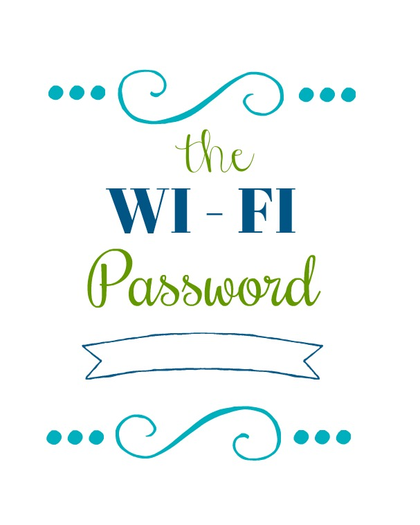 printable wi-fi password color