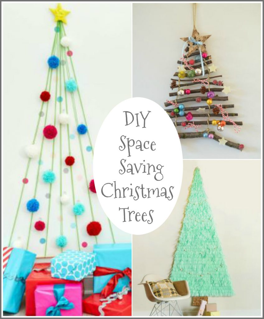 12 Creative DIY Space Saving Christmas Trees