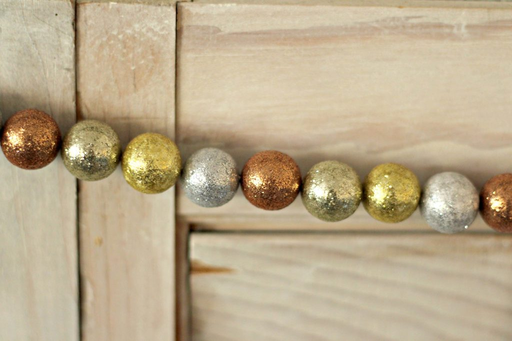 Comfort and Joy Christmas Mantel ball garland