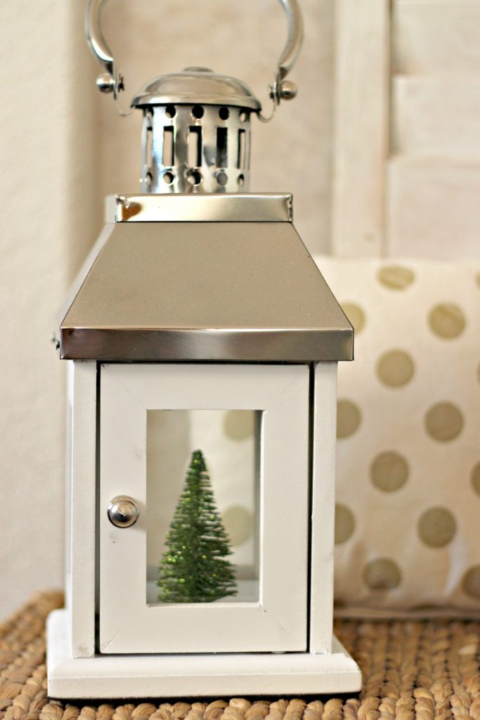 Comfort and Joy Christmas Mantel lantern