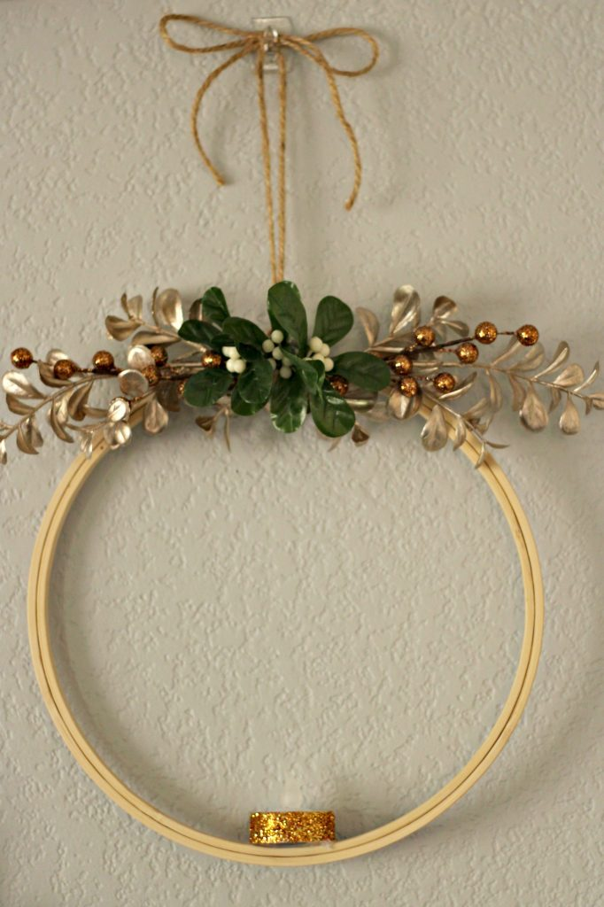 Comfort and Joy Christmas Mantel large hoop wreath