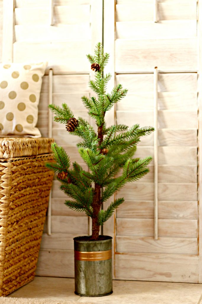 Comfort and Joy Christmas Mantel pine tree