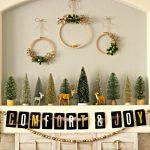 Comfort & Joy Christmas Mantel