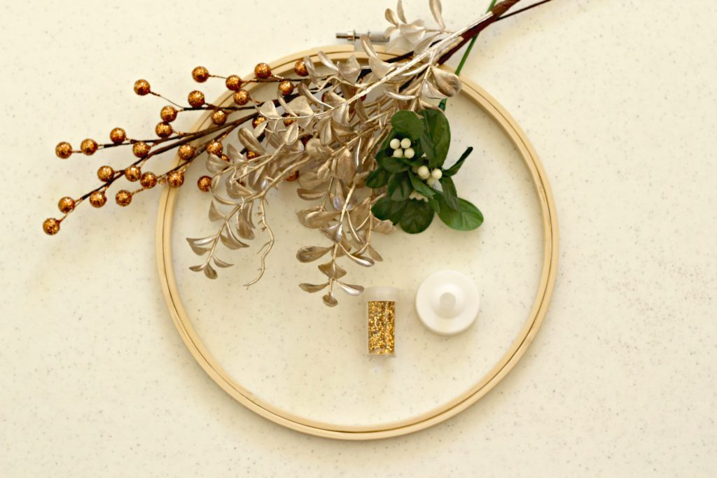 Candle Hoop Wreath supplies