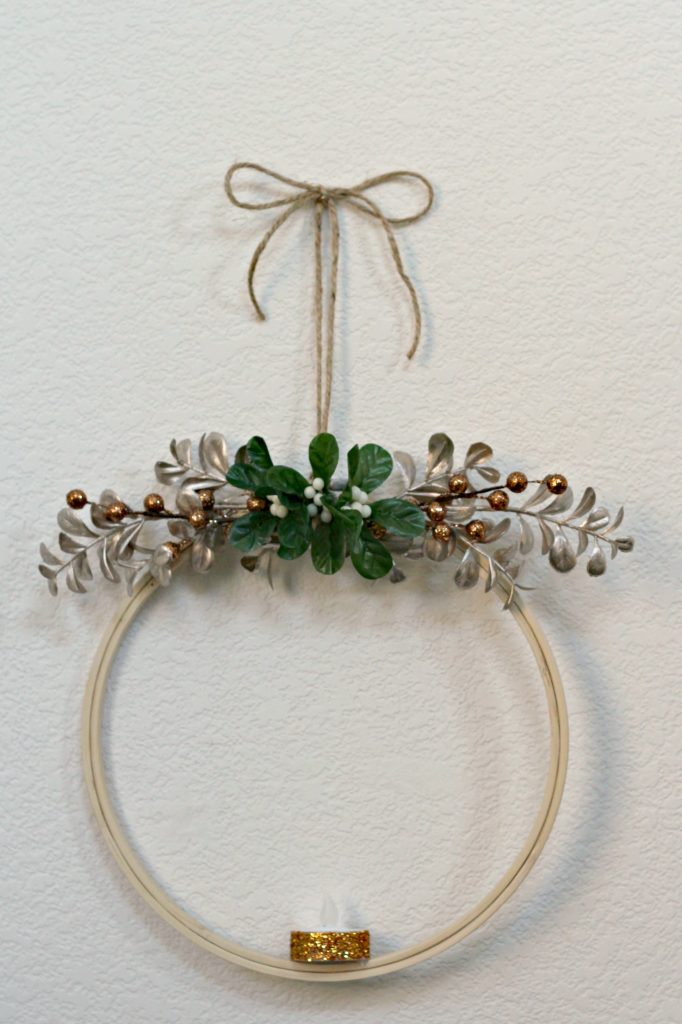 Winter Candle Wreath