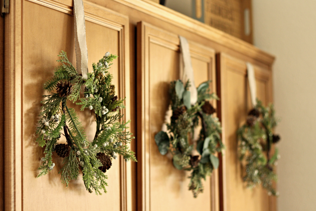Christmas cabinets
