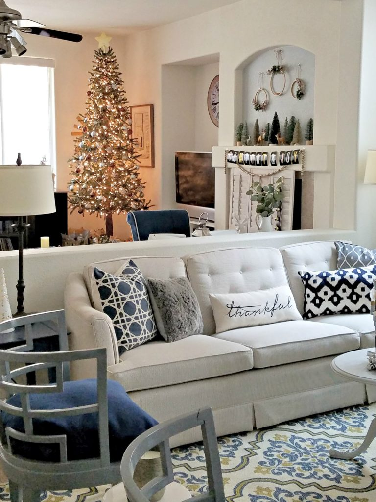 living room family room Christmas