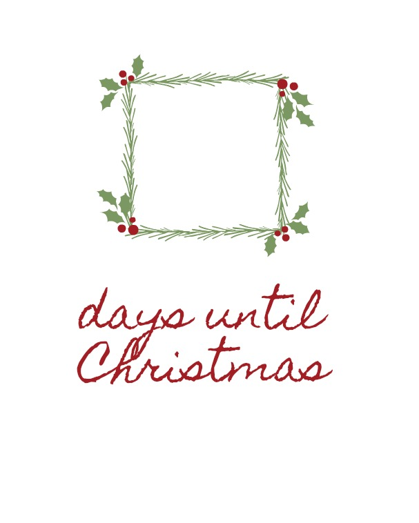 days until Christmas vine