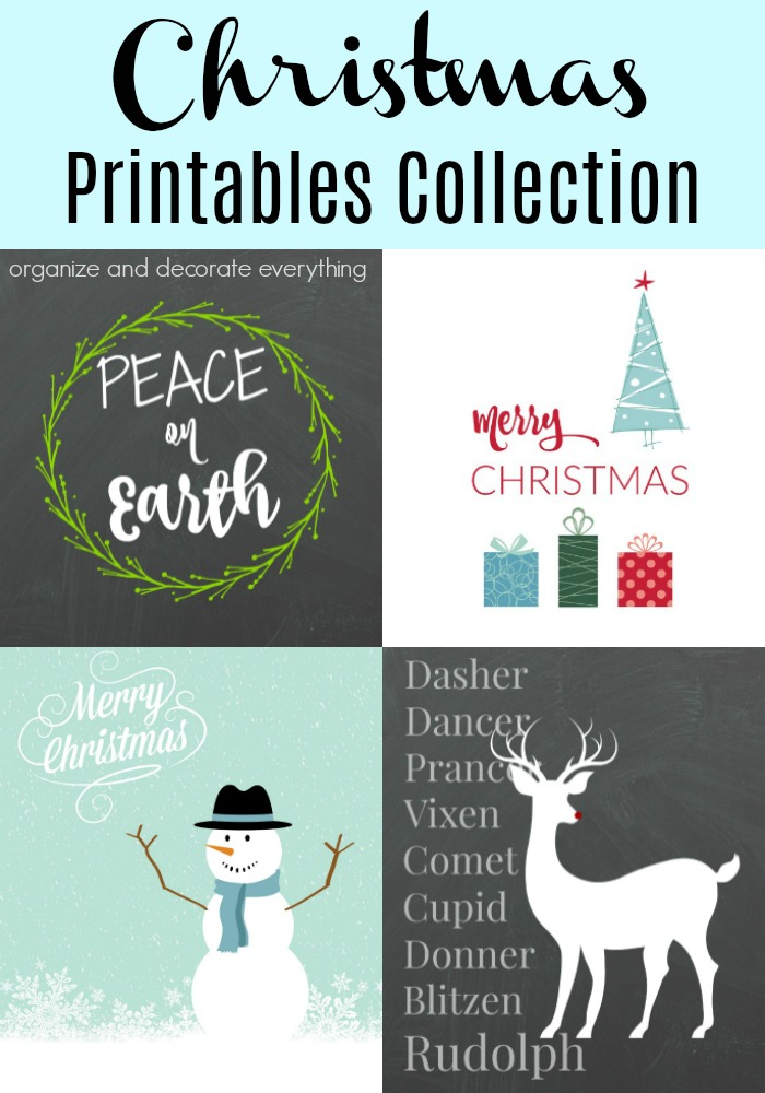 26 Favorite Christmas Printables Collection