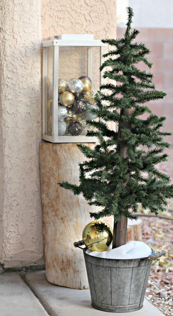 Front porch mini tree
