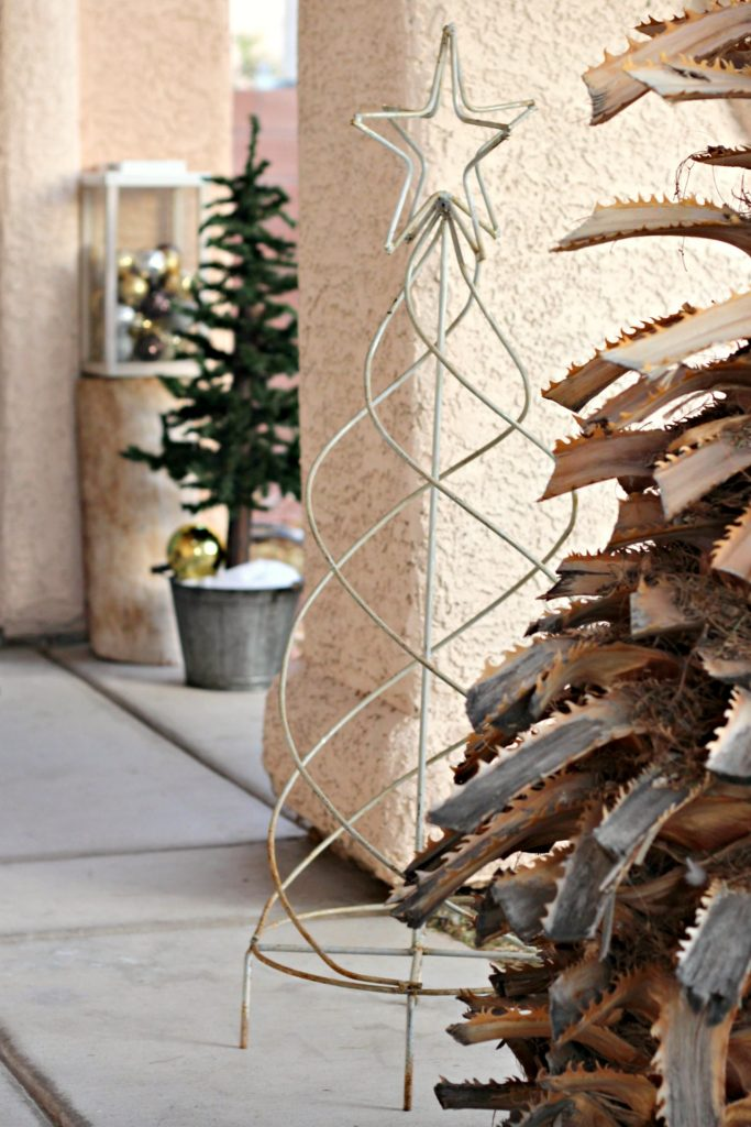Mixed Metal Rustic Christmas Porch Organize And Decorate