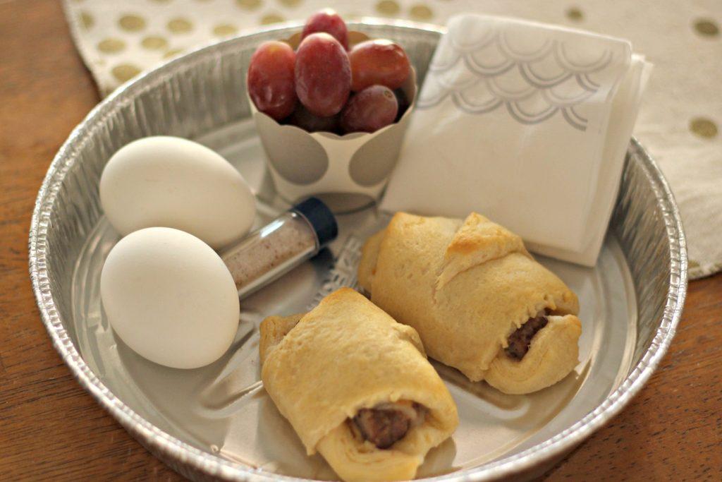 Sausage Cheese Crescent Sandwich breakfast to go
